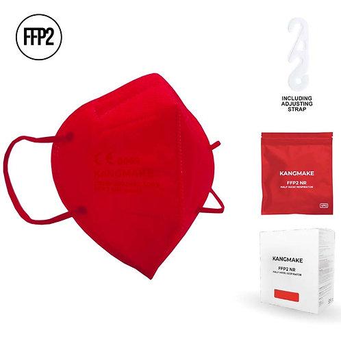 Mascherina FFP2 ROSSA con custodia richiudibile