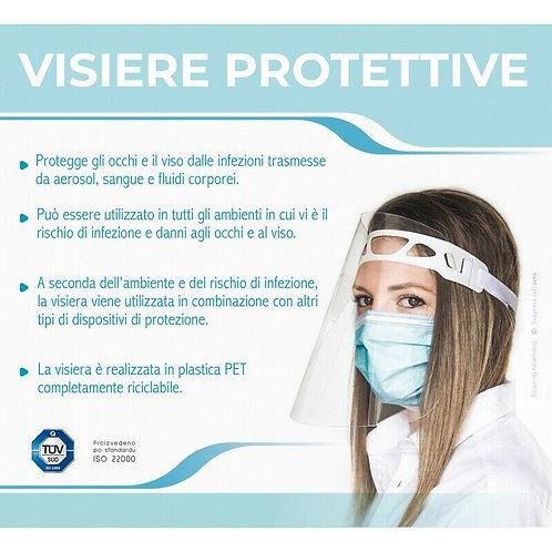 Visiera Protettiva Trasparente PET - Protezione Occhi e Viso