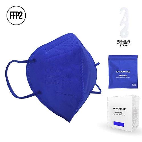 Mascherina FFP2 BLU con custodia richiudibile