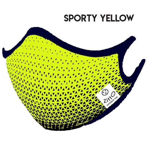 Sporty Yellow Zitto Mask vista frontale