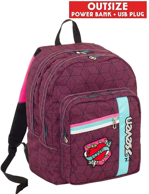Zaino Seven Outsize Rebel Girl Fuxia