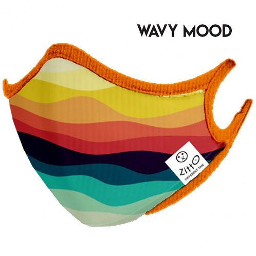 Wavy Mood Zitto Mask vista frontale