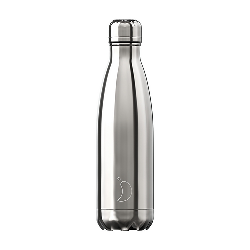 CHILLY'S BOTTLE Chrome Silver 500 ml