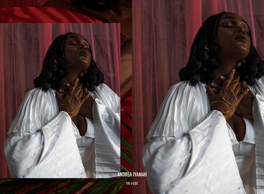 """""""Falling for Falana"""" Andrea Iyamah Val's Day Edit"""