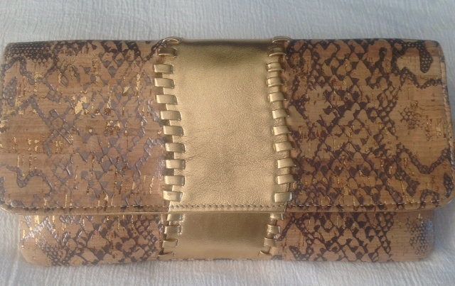 Boa-Inspired, Embossed Cork S Clutch