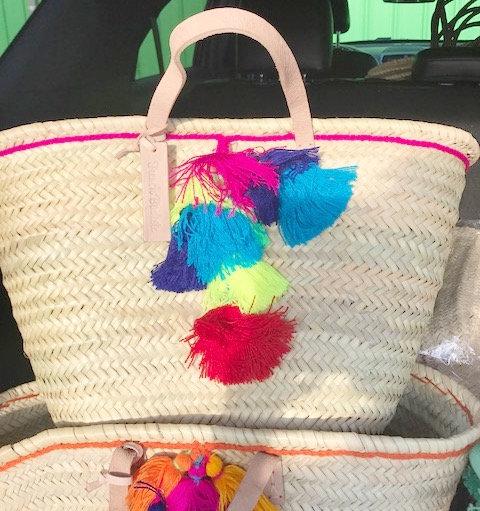 Moroccan Beach Bag- Pink
