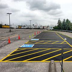 Sealed and painted asphalt