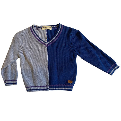 Moejoe Plain Baby Sweater with V-Neck