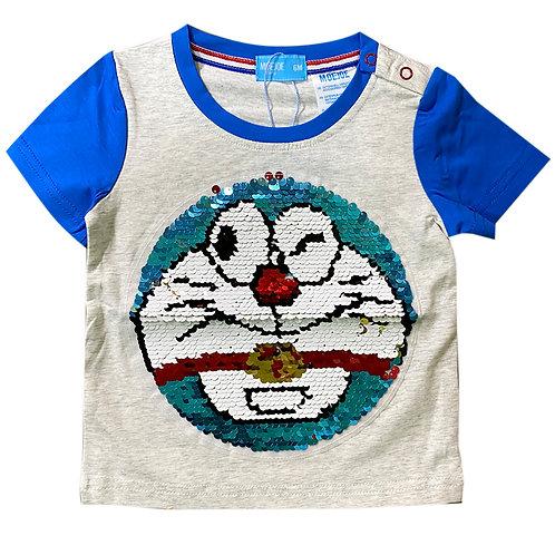 Moejoe Baby Cute Doraemon with Sequin T-Shirt