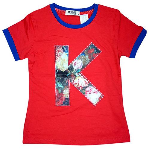 Moejoe Girl Flower Simple T-Shirt