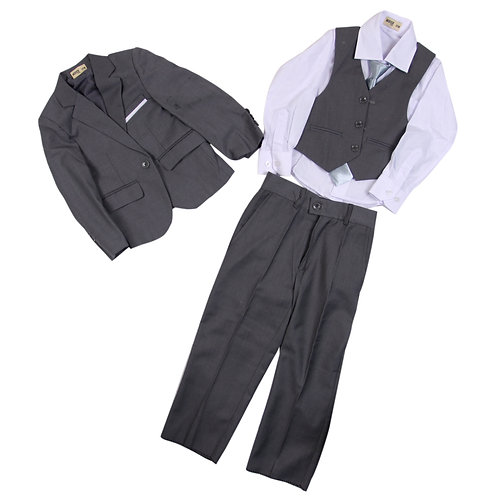 MOEJOE Plain Grey Suit