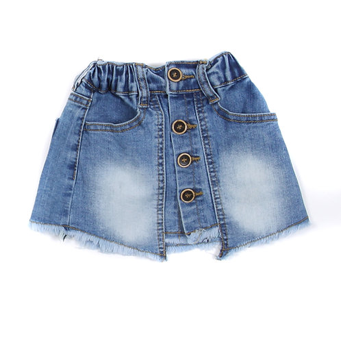 Moejoe Baby Girl Brown Button Jeans Shorts