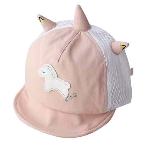 Moejoe Unicorn Baby Hat with Face Shield