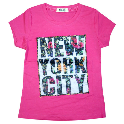 Moejoe Girl NY with Pearl T-Shirt