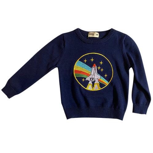 Moejoe Baby Boy Rocket Embroidery Sweater