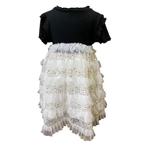MOEJOE  Monica Ruffle Dress with sequin detail