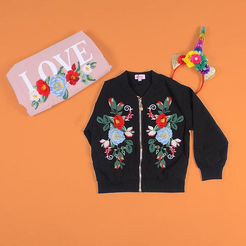 LOVE Floral Bomber Jacket