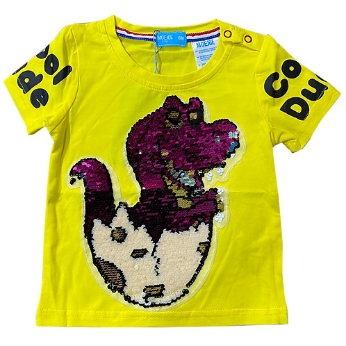 Moejoe Baby Dino Smile with Sequin T-Shirt