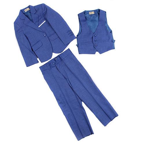 MOEJOE Blue Plain Suit
