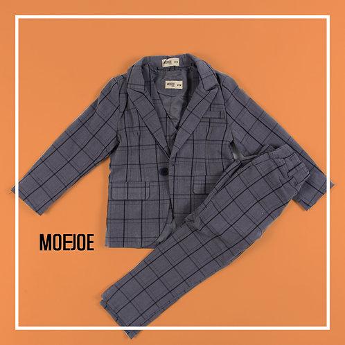Windowpane Pattern Suit