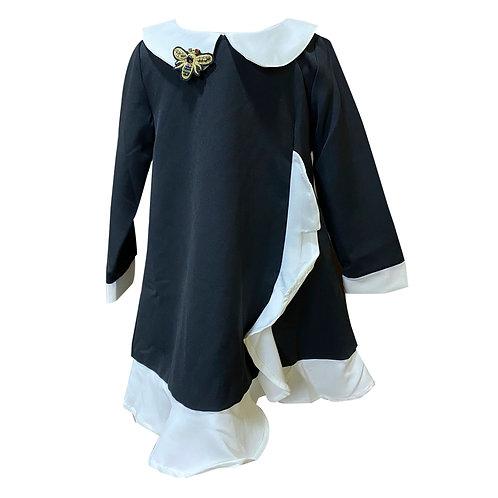 Moejoe Girl Puritan Collar Dress