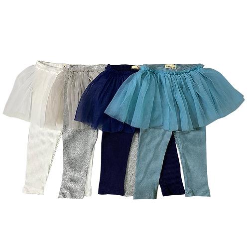 MOEJOE Plain Legging with Tutu Skirt