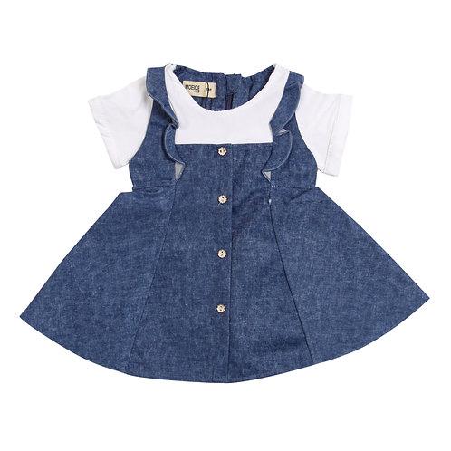 Moejoe Baby Girl Denim Variation Dress