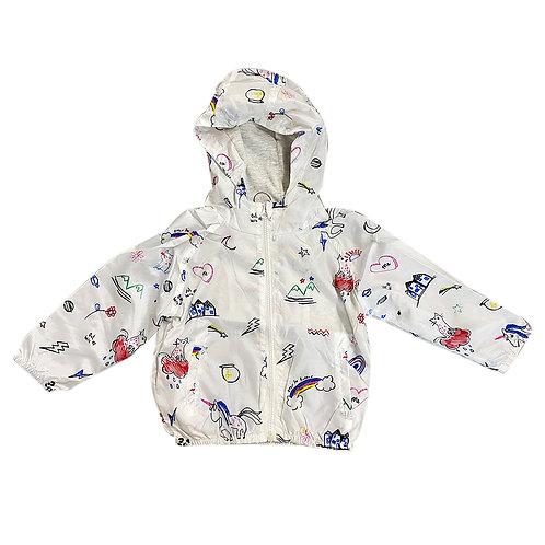 Moejoe Boy Little Pony White Windbreaker Jacket