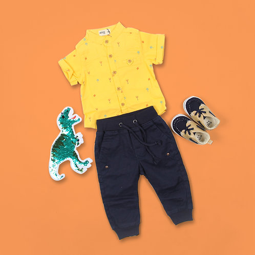 Moejoe Baby Boy Giraffe Pattern Shirt