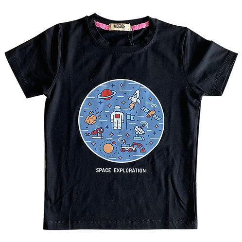 MOEJOE Kaos anak Laki-laki motif Space Bulat