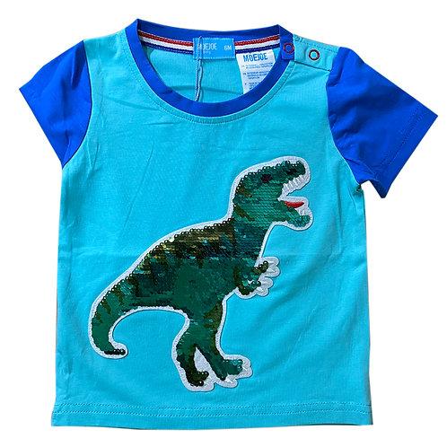 Moejoe Baby Dinosaur Sequin Baby T-Shirt