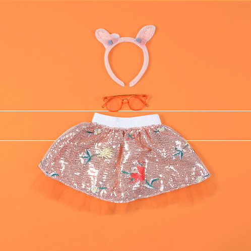 Flower Sequin Skirt