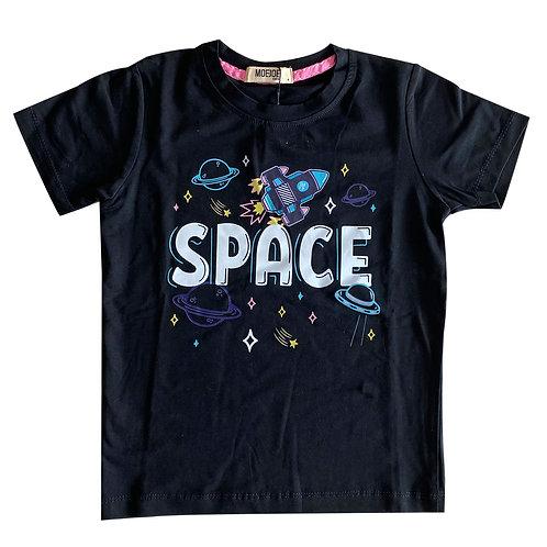 MOEJOE Kaos anak laki-laki motif Space