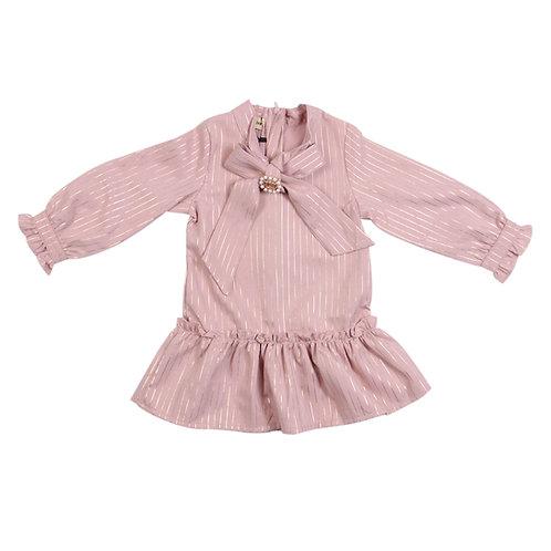Moejoe Girl Gold Stripes Dress