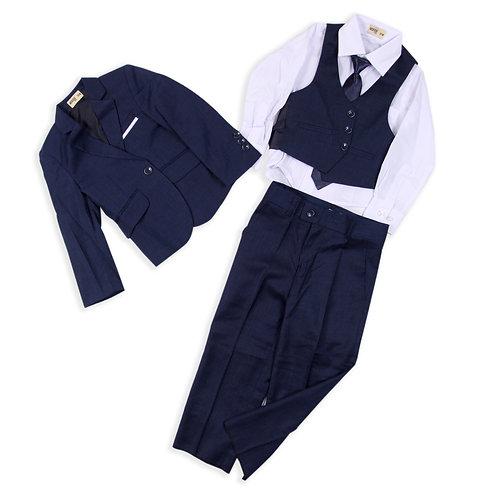 MOEJOE Navy Plain Suit