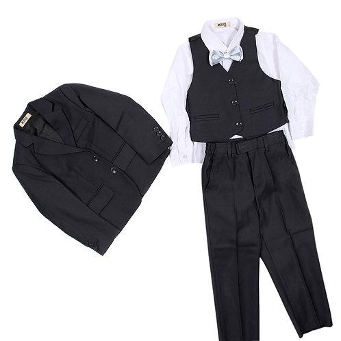 MOEJOE Plain Grey Suit / Pakaian Formal Anak-Anak