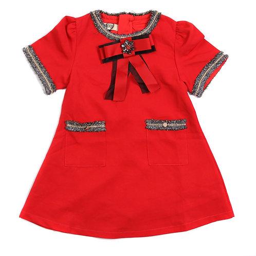 Moejoe Girl Red Bow Dress