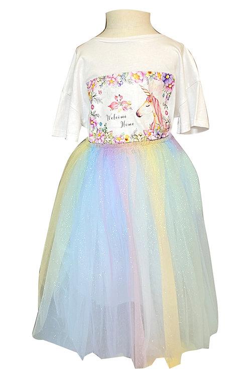 Moejoe Girl Alisa Rainbow Tutu Skirt