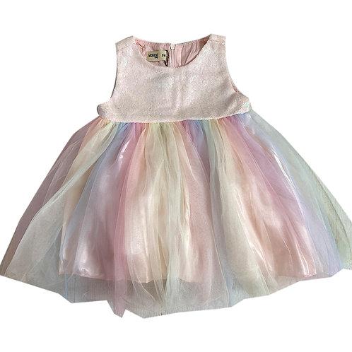 Moejoe Baby Girl Simple Rainbow Baby Dress