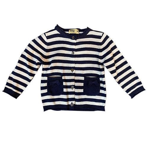 Striped Baby Girl Knit Cardigan - MOEJOE