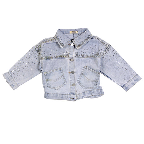 Moejoe Girl Spatter Dots Jeans Jacket