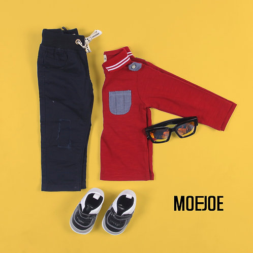 Long Sleeve Tee With Pocket Details