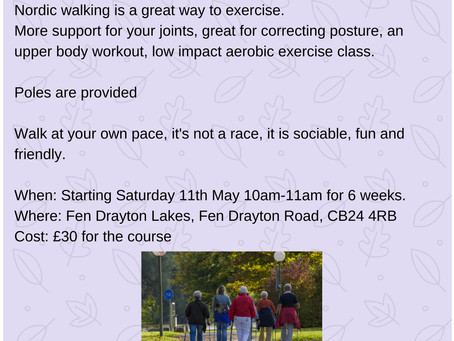 Learn to Nordic Walk at Fen Drayton Lakes