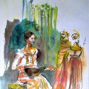 Dancer with Mandolin