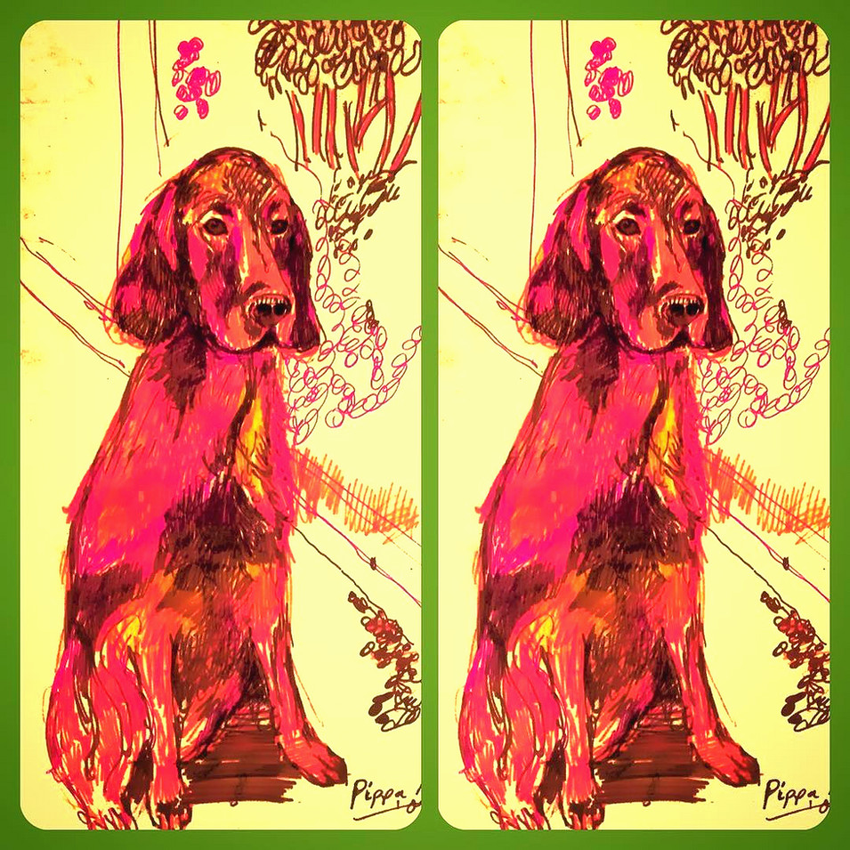 Red Setter Diptych