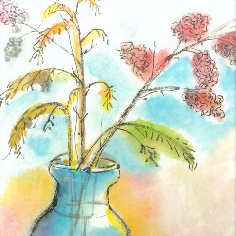 Vase & Fruit
