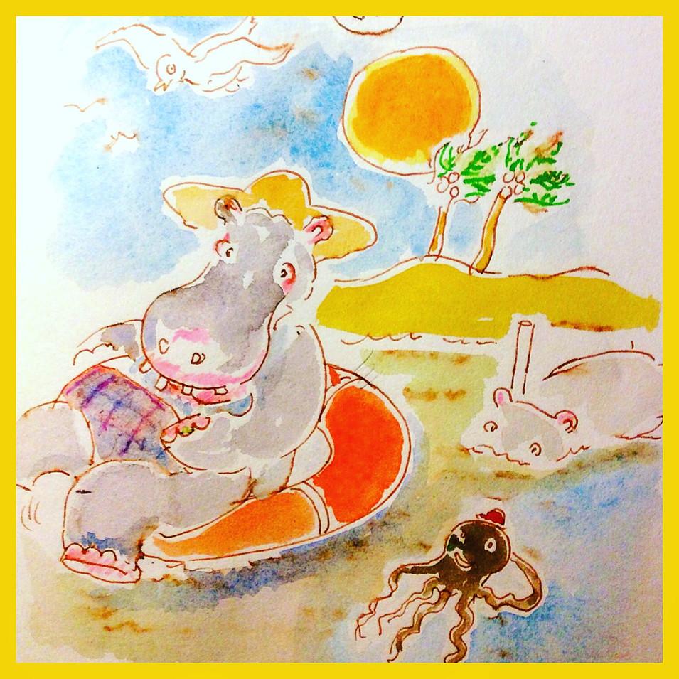 Hippos on holiday