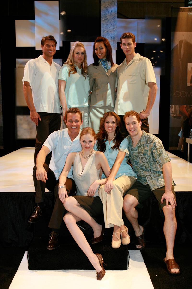 Cintas models at Javits Center