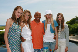 Russell Simmons and models