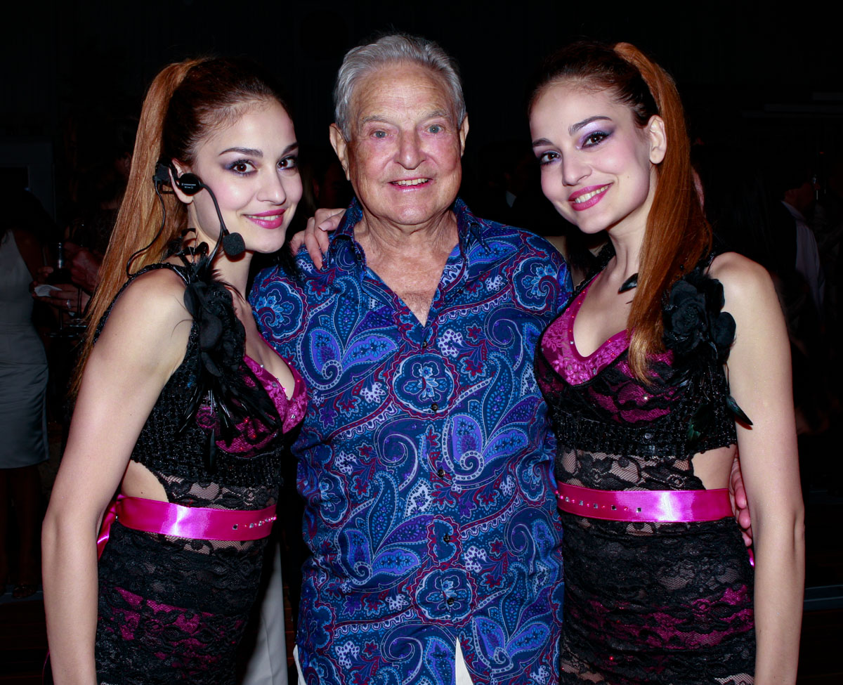 Soros and entertainers